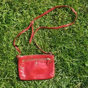 Cole Haan red leather crossbody